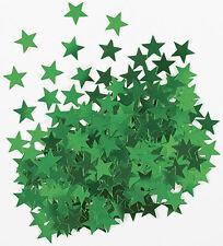 Sterne Konfetti Sternchen Streu Deko Metallic Grün Basteln Weihnachten 1cm Ø