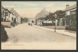 Postcard Charmouth nr Lyme Regis Dorset view Looking West posted 1910