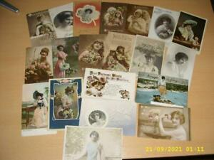 GLAMOUR LADIES - LARGE COLLECTION OF VINTAGE  POSTCARDS