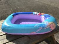 Official Disney Frozen Anna & Elsa Inflatable Boat Dinghy Float Pool Toy Lilo