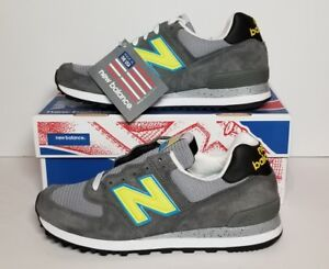 NEW BALANCE US574CY CASTLEROCK/LIME MENS MADE IN USA! NEW/BOX MULTIPLE SIZES