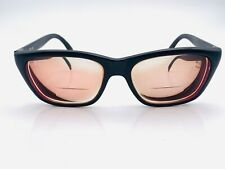 Vintage Bolle 527 Black Oval Sunglasses France FRAMES ONLY