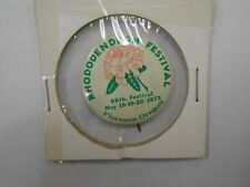 *VINTAGE* 66th Rhododendron Festival Event Pin 1973 (HARD TO FIND) Check it out!