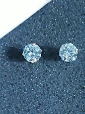 FABULOUS 4.75 CT. 8MM 14K GOLD RHODIUM ROUND BRILLIANT CUT SOLITAIRE EARRINGS ST