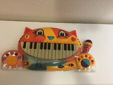 NEW B Toys Meowsic Toy Piano – Children'S Keyboard Cat Piano with Toy Microphone