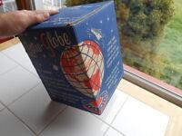 "RARE Vintage 1960s 1962 J Chein Tin Toy ASTRO GLOBE EMPTY Box ONlY 10"" Clean"