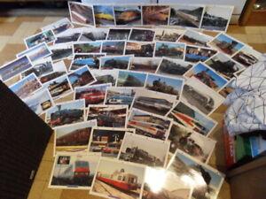 Lot fiche photos Train Locomotive vapeur electrique TGV chemin de fer ancien