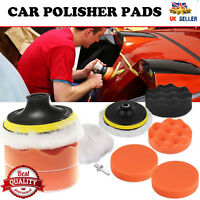 Car Polisher Kit Pad Buffer Gross Polish Polishing Kit Set With Drill Adapter UK