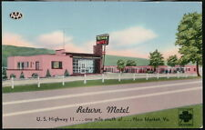 NEW MARKET VA Return Motel Highway 11 Vintage Postcard Old Virginia Roadside PC