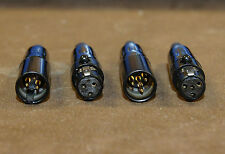Connecteur mini-XLR noir 3 broches, contacts dorés gold pin, fiche type femelle