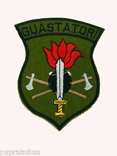 Patch Scudo Toppa Militare Guastatori Esercito Italiano Verde con Velcro 861d442508f2