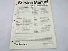Technics SX-PX334/P/PX334M Digital Piano Service Manual. Schematics, Parts Lists