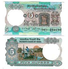 INDIEN INDIA 5 RUPEES 1975 LETTER E SIGN 85 UNC P 80 l