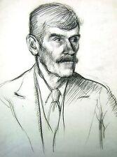 Derek Fowler Retrato Estudio de un Señor Con Bigote afrontando ya C1940