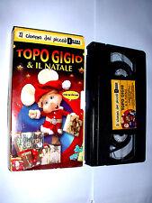 TOPO GIGIO E IL NATALE   il cinema dei piccoli  Vhs Videocassetta ( 80 Minuti