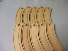 BRIO COMPATIBLE WOODEN TRACK  10 X STANDARD CURVES
