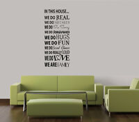 IN THIS HOUSE WE DO WORDS HOME FAMILY QUOTE VINYL DECAL WALL ART LETTERING 36""