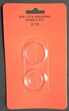 (2) Air Tite Direct Fit 18 mm (Dime) Coin Holders