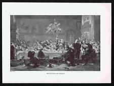 Wallenstein's Last Banquet - J. Scholz - Typogravure Print 1894