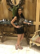 Jovani Prom Dress Size 2 Short beaded fringe