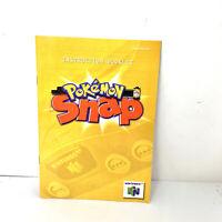 Pokemon Snap Manual Only Nintendo 64 N64 No Game