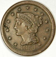 1854 LARGE CENT ~ EXTRA FINE ~ DETAILS ~ PRICED RIGHT! INV#223