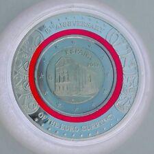 Spanien 2017, 2 Euro mit rotem Polymerring, Kirche Maria Naranco, gekapselt, CoA