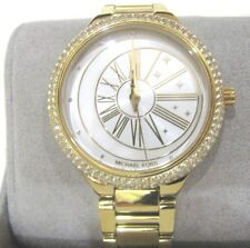 Michael Kors Taryn Women's Gold Tone Glitz Stainless Steel Watch MK6550 NWT $250