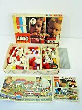 VINTAGE 1970'S SAMSONITE LEGO BUILDING TOY NO. 205 ORIGINAL BOX MISSING PIECES