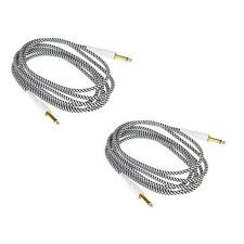 2PCS 3m Cloth Braided Tweed Electric Box Piano Guitar Cable Cord C4E9