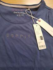 ESPRIT Damen T-Shirt mit Strass Kurzarm Sommer T Shirt Größe M