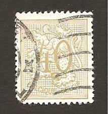 """Timbre Variété PEU COMMUNE: """"couleur très claire"""" pour le 40 c. BELGIQUE de 1951"""