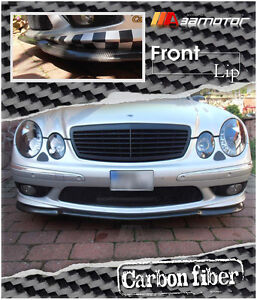 Carbon Fibre CS Front Bumper Splitter fit for Mercedes W211 E-Class E55 E320 AMG