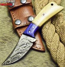 SFK CUTLERY CUSTOM HANDMADE FIXED BLADE DAMASCUS FULL TANG HUNTER SKINNER KNIFE