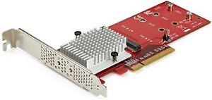 StarTech Dual M.2 PCIe 3.0 NCMe SSD Adapter Card PEX8M2E2