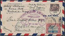 #571 & #C11 ON ZEPPELIN 1ST FLIGHT 1928 COVER DETROIT, MI TO GERMANY BS1217