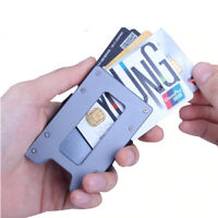 NEW Aluminum&Metal RFID block Wallet MODERN and SAFE Card Holder