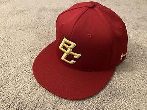 Boston College Baseball Authentic Game Cap Hat, Under Armour Flex Fit Large L