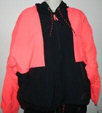 Vintage Ocean Equipment Womens Windbreaker Black Neon Pink Hoddie Unisex Size M