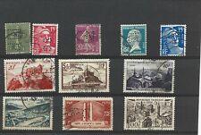 11 beaux timbres perforés France