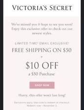 Victoria's Secret $10 Off $50 Coupon