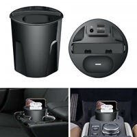 12-24V/5A QI Fast Wireless Car Charger Cup w/ 2 USB For IPhone AirPods Headphone