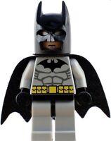 Custom Designed Minifigure - Batman Grey Suited Cape Crusader with Helmet