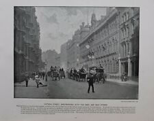 1896 LONDON PRINT + TEXT VICTORIA ST WESTMINSTER WITH THE ARMY AND NAVY STORES