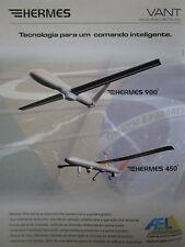 8/2010 PUB AEL AEROELECTRONICA BRASIL HERMES 450 900 DRONE VANT PORTUGUESE AD