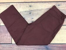 NEW LL BEAN Burgundy Red Dungaree Casual Pants Womens Sz 4 Pet (27x28) - (LLW37)