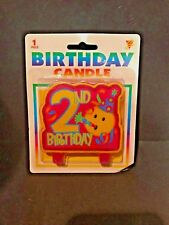 2nd Birthday Candle Pink NEW