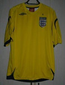 ENGLAND NATIONAL TEAM 2006/2007/2008 GK FOOTBALL SHIRT JERSEY UMBRO SIZE L