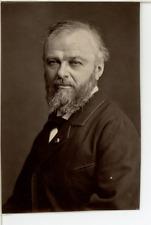 France, Jean-Jacques Henner, artiste peintre  Vintage print.  Photoglyptie