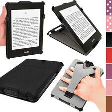 Igadgitz Noir PU Étui Housse Case Cuir pour Amazon Kindle Paperwhite 2015 2014
